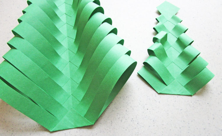 Fold the bottoms of the trees.