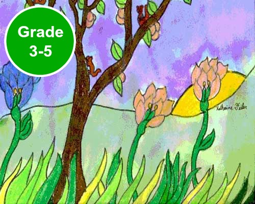 Grade 3, 4 and 5 Art Lessons. KinderArt.com