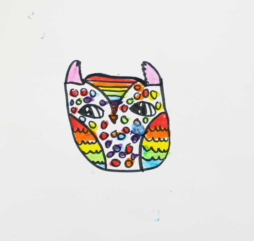 How to draw a cartoon owl.
