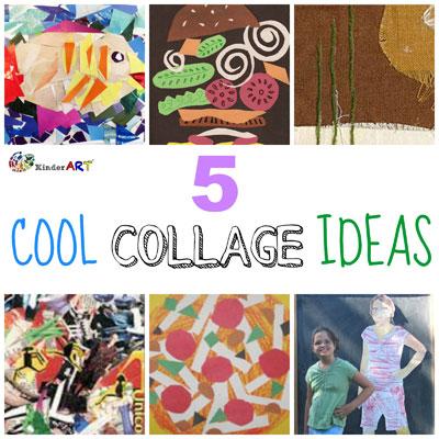 cool collage ideas kinderart. Black Bedroom Furniture Sets. Home Design Ideas