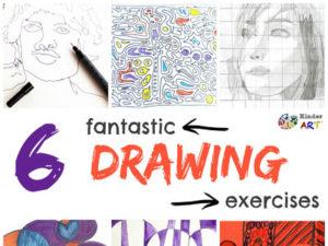 5 Fantastic Drawing Exercises. KinderArt.com
