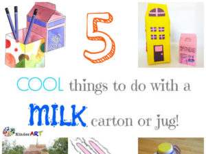5 Cool Things to do with a Milk Carton or Jug. KinderArt.com