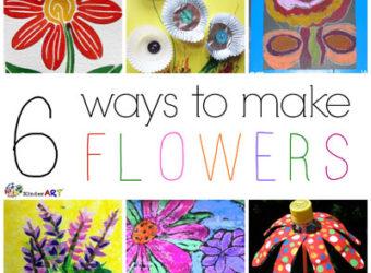 6 Ways to Make Flowers. KinderArt.com