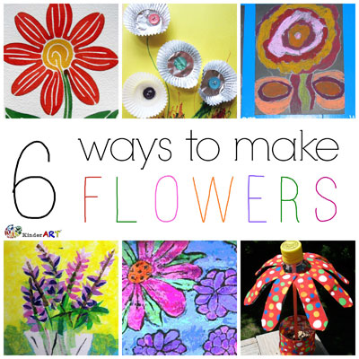 6 Ways to Make Flowers. KinderArt.com