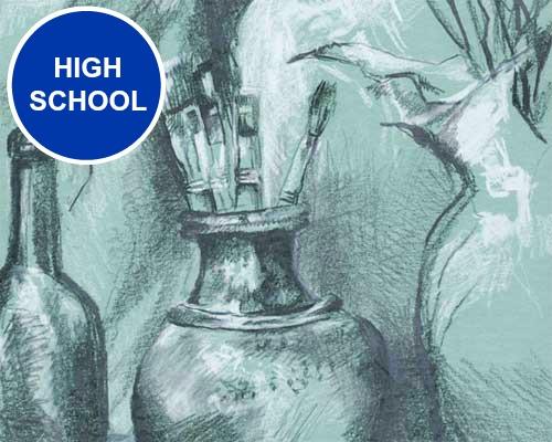 High School Art Lessons. KinderArt.com