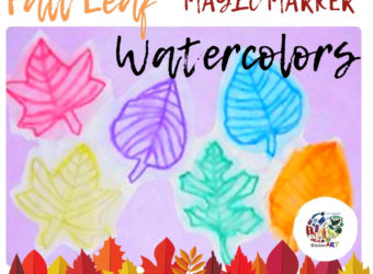 Fall Leaf Magic Marker Watercolors Lesson Plan KinderArt.com