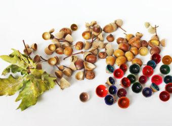 Acorn Cap Gems Your Kids Can Make. KinderArt.com
