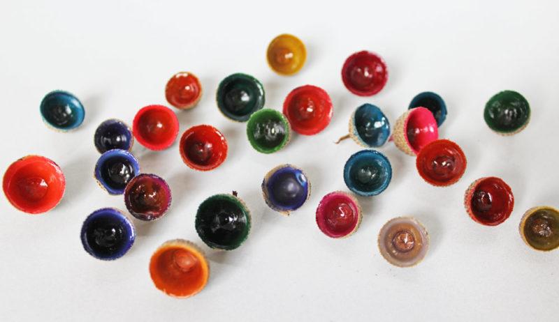 Acorn cap gems. KinderArt.com