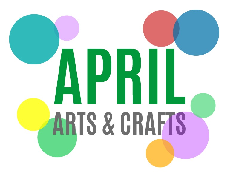 April Arts, Crafts and Activities for Kids from KinderArt.com