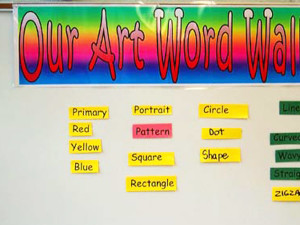 Art words bulletin board