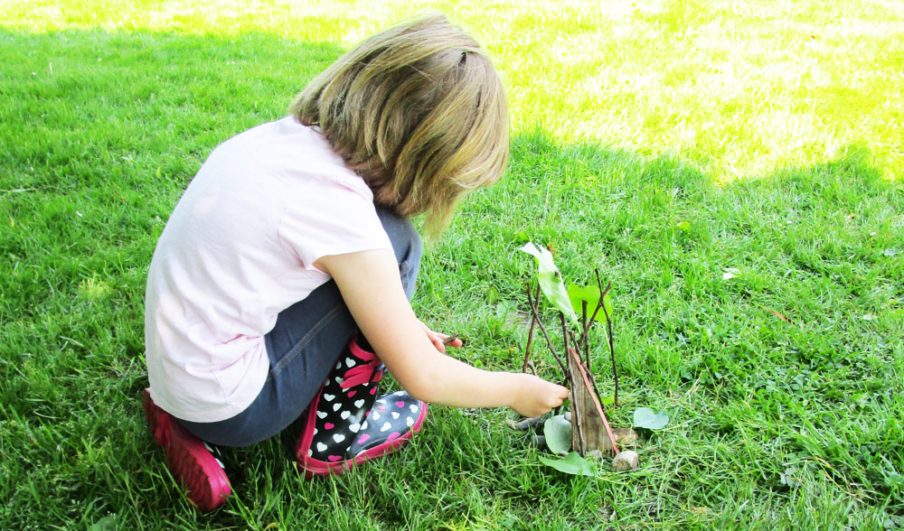Make a sculpture using natural materials - Nature Art Activities for Kids