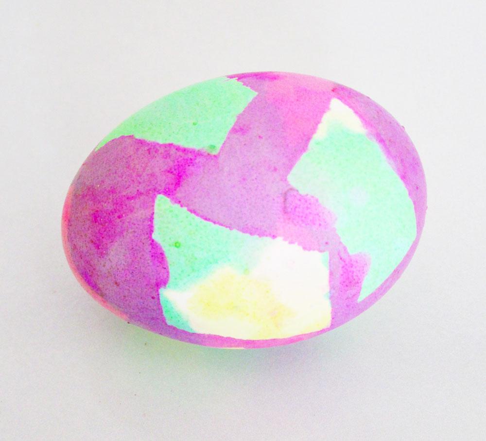Masking tape batik egg.