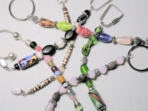 Make a beaded keychain.