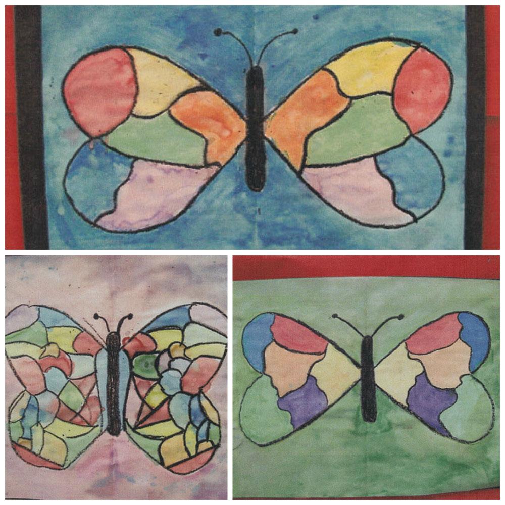 Crayon Resist Butterflies