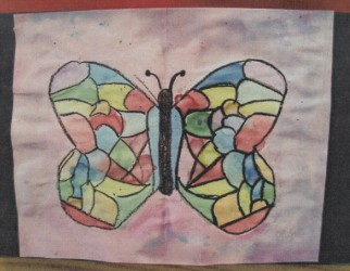 Bella Butterfly Collage at KinderArt.com
