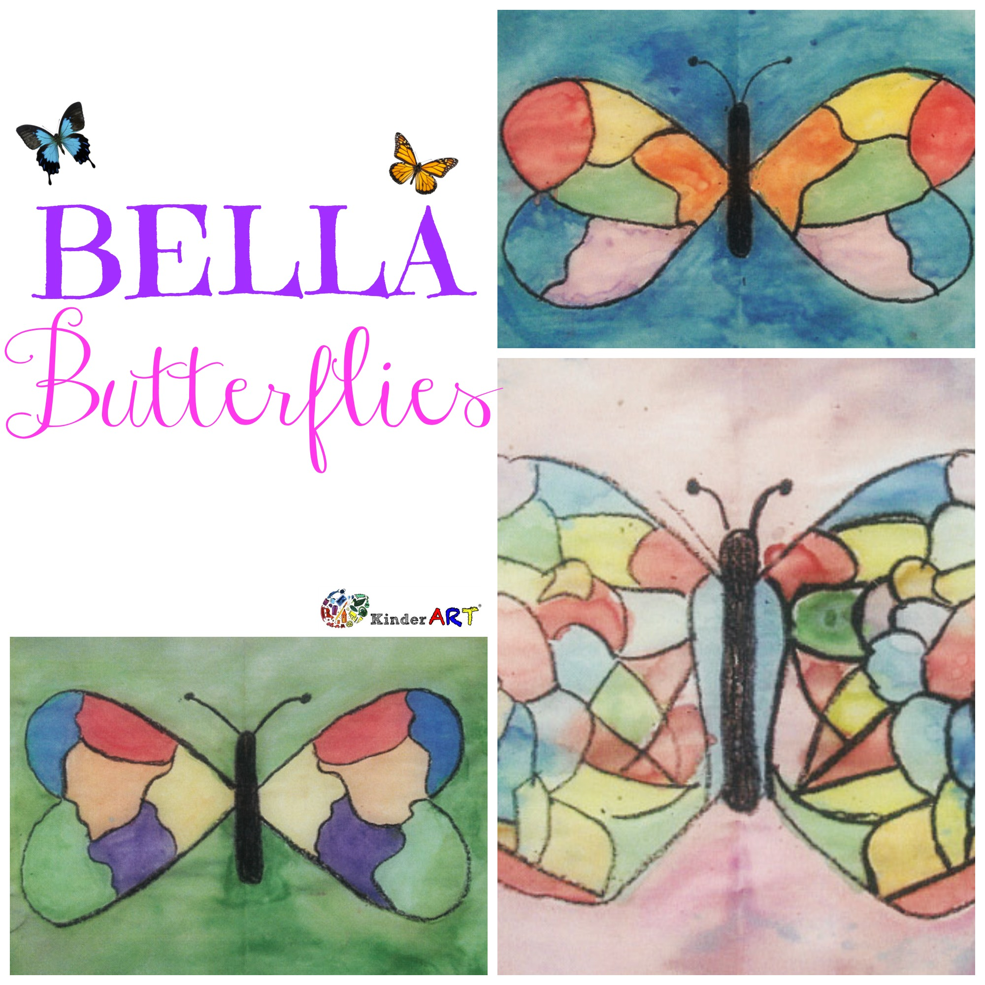 Bella Butterflies Collage