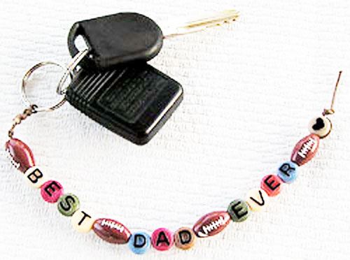 Make a keychain for Dad.