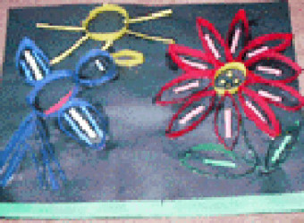 Bird and flower paper quilling