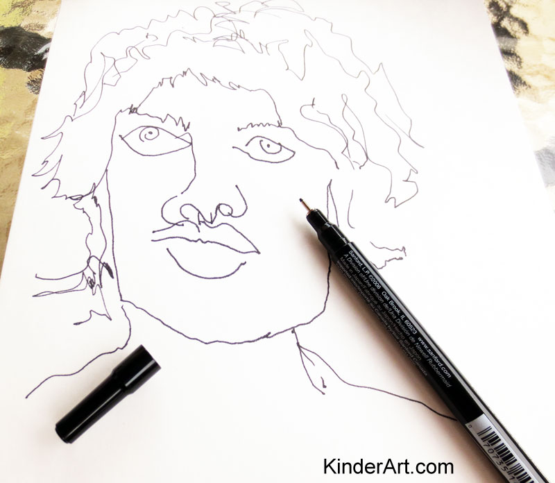 Blind Contour Drawing lesson plan for kids