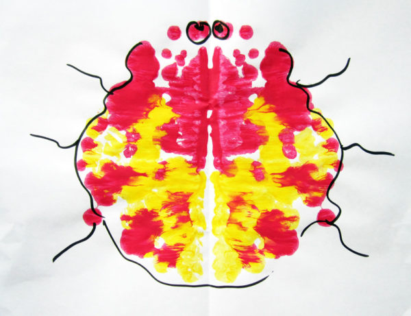 Paint blot art. KinderArt.com