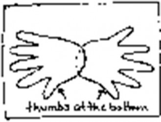 How to make a handprint crab.