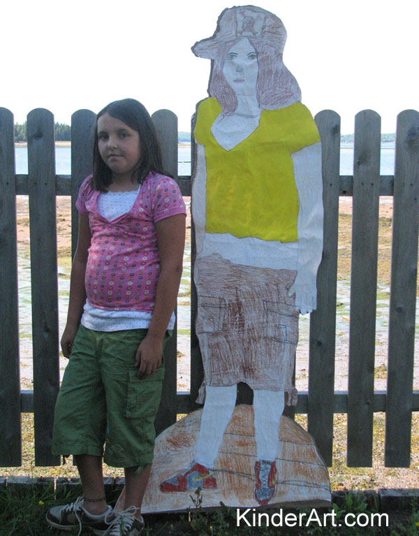 Body Collage Tracing Self Portraits Lesson Plans