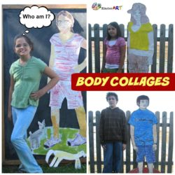 Body Collages Art Lesson Plan from KinderArt.com