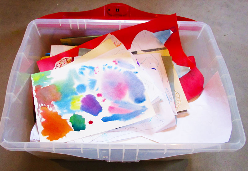 Kids art in a box. KinderArt.com