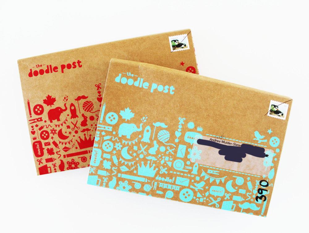 Doodle Post boxes. KinderArt.com
