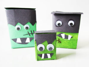 Frankenstein's Monster craft for kids from KinderArt.com.