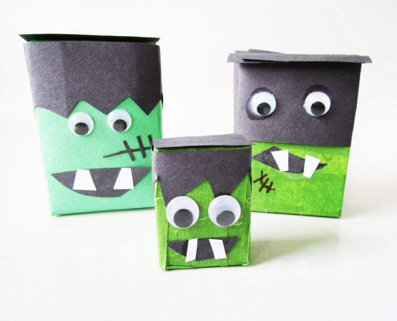 Frankenstein's Monster craft for kids from KinderArt.com.