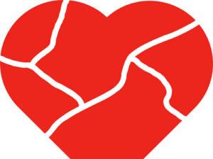 Broken Heart Craft from KinderArt.com