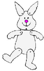 Make an Easter Bunny puppet.