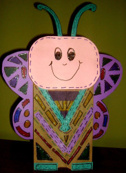 Paper Bag Butterfly Puppet