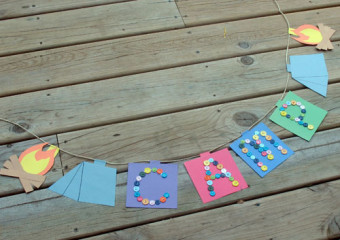 Make a banner for your summer camp cabin.