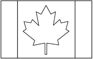 Canada flag coloring page. KinderArt.com