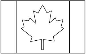Canada Flag Coloring Page Kinderart