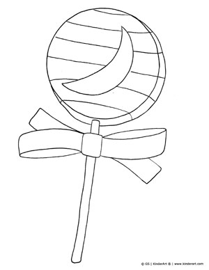 halloween candy coloring page - Lollipop Coloring Pages Printable
