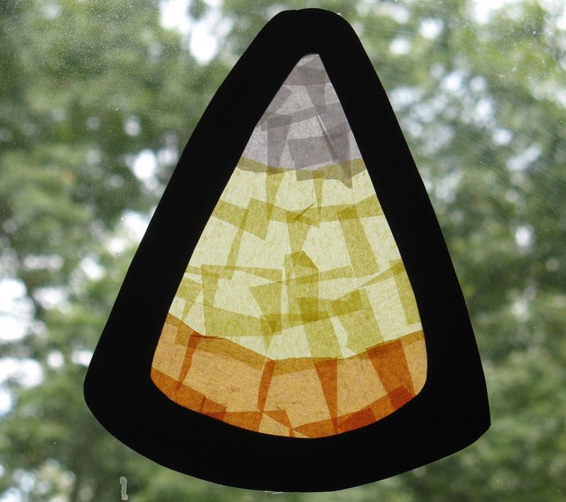 Candy Corn Paper Craft. KinderArt.com