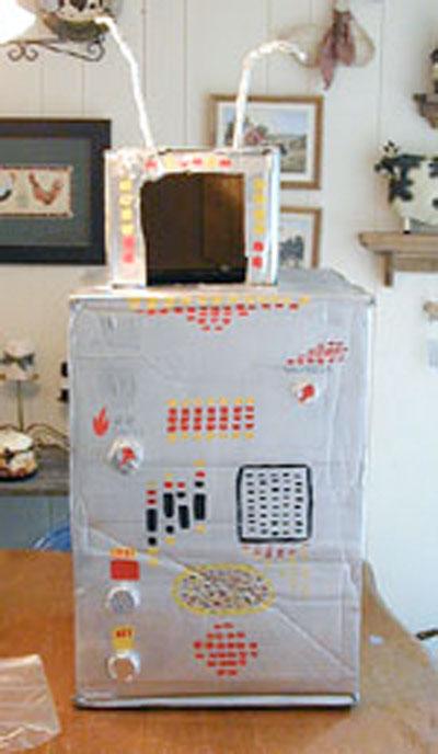 Cardboard box costume ideas.