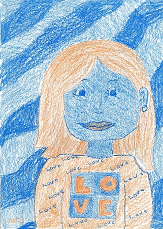 Complementary color portraits lesson plan for kids.