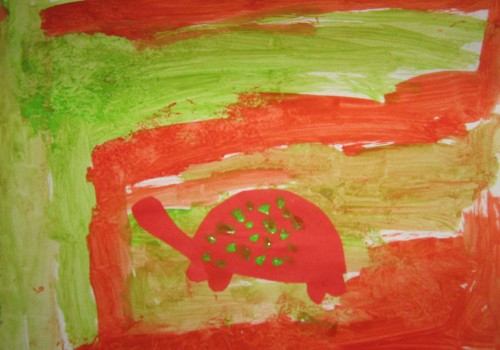 Complementary color turtles