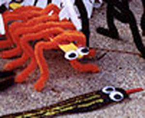 Centipede craft for Halloween