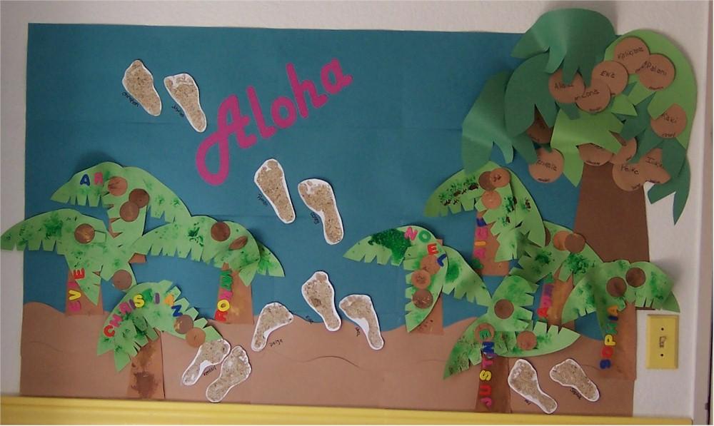 Aloha Chicka Chicka Boom Boom Bulletin Board Kinderart