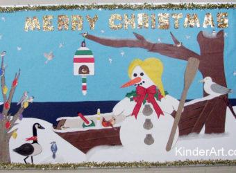Christmas by the Sea bulletin board idea