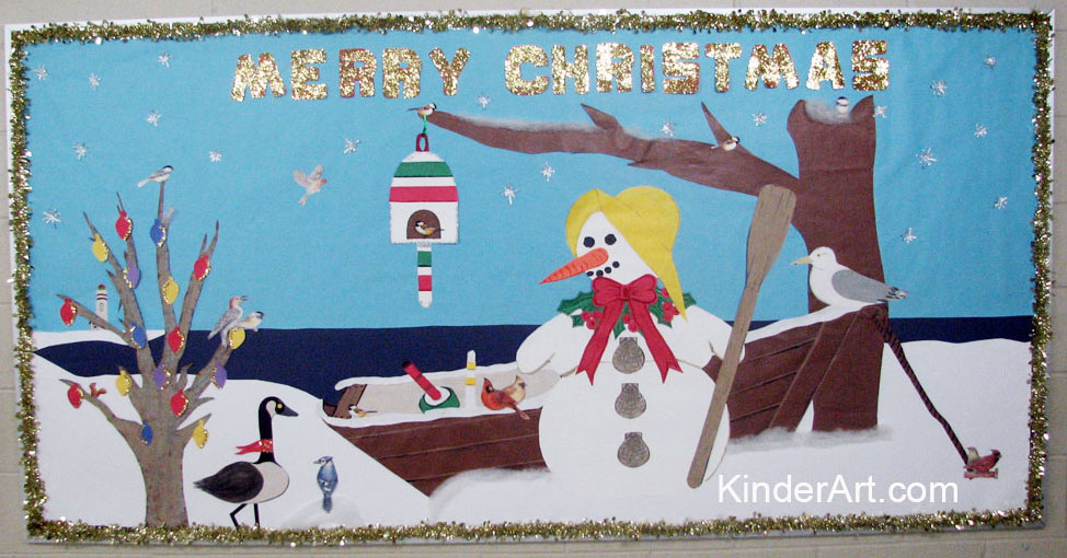 christmas by the sea bulletin board idea - Christmas Bulletin Board Decorations