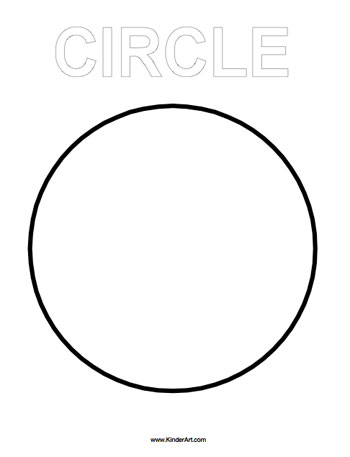circle coloring page kinderartcom - Coloring Pages Shapes