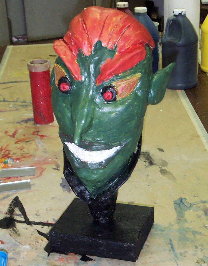 No-fire clay heads art lesson for kids.