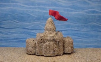 Clay sand castles.