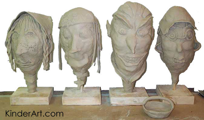 no fire clay heads lesson plan sculpture activities and lessons for